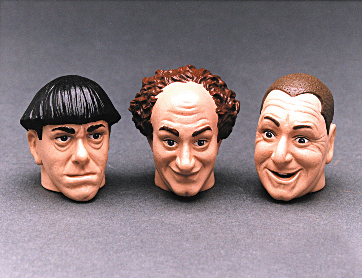 the Three Stooges - Moe, Larry and Curly