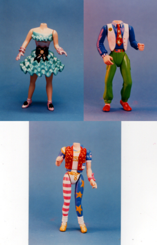 girls and a boy doll bodies for Swans Crossings Playmates toys
