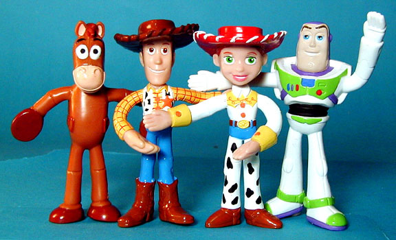 in box Toy Story Bendies for Kelloggs