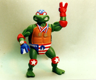 Olympic swimmer Ninja Turtle for Playmates toys - gold medals