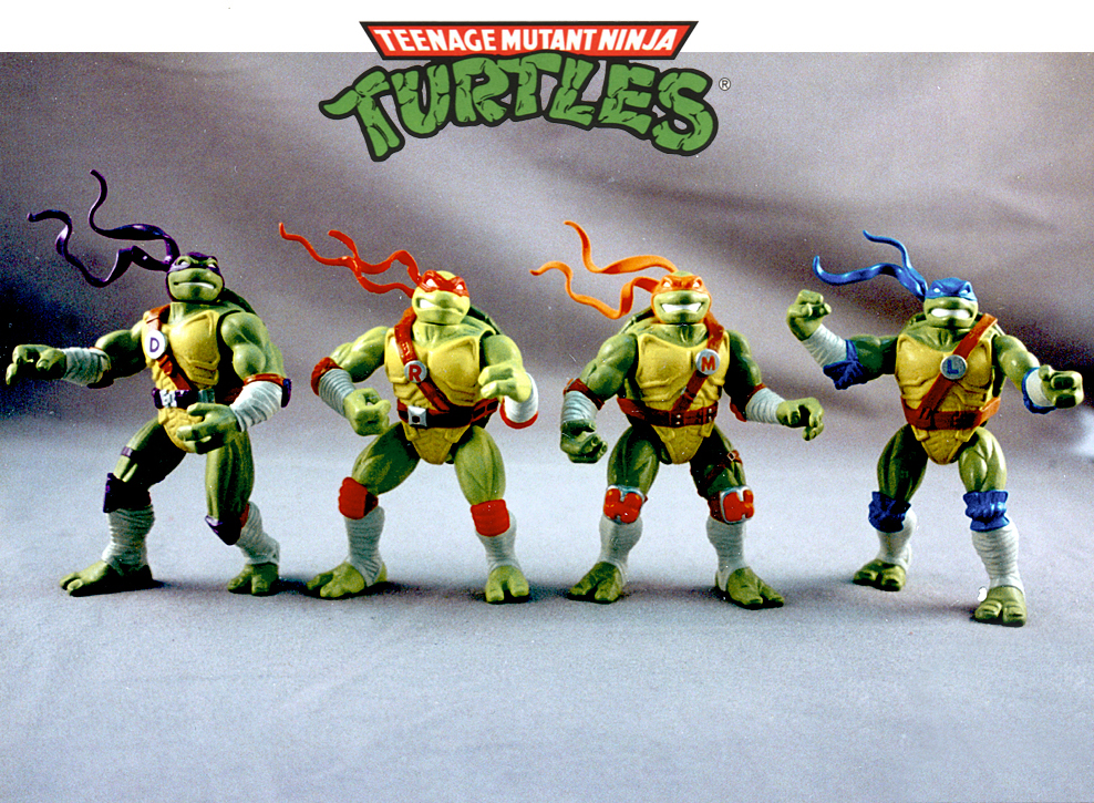 the mighty Teenage Mutant Ninja Turtles for Playmates toys