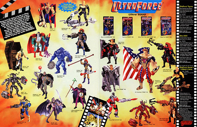 The Ultraforce figures for Galoob Toys malibu comics