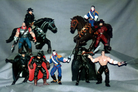 Zorro Figures - playmates toys with horses and mech action