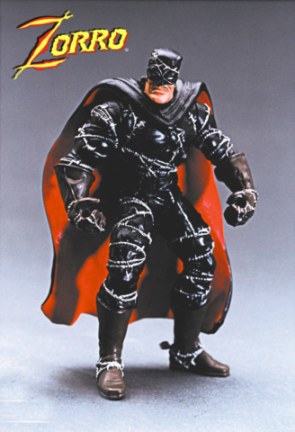 Barbed wire Zorro for Playmates articulated figure