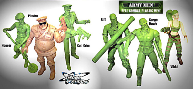 Army Men figure line based on a video game