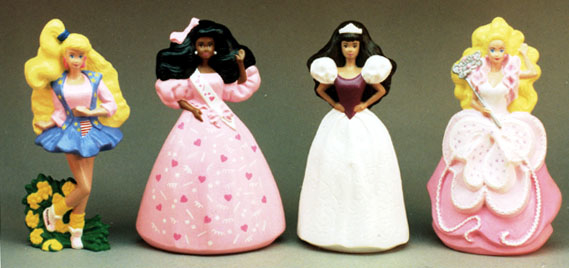 first year Barbies for McDonalds happy meal