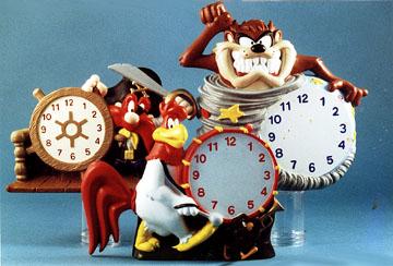 Taz, Sam and Foghorn Leghorn - three Warner Brothers Clocks for the WB Studio store