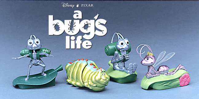 Bugs Life Pixar Happy Meal toys