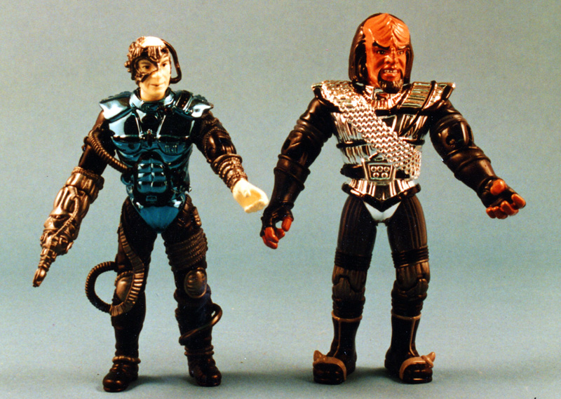 chrome Trek figures Worf and Borg Picard - Playmates toys