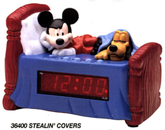 'Stealin' the Covers' - a plastic clock from Westclox