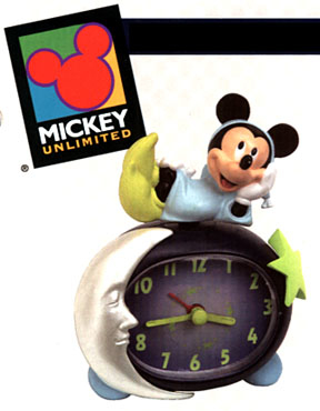 Mickey Moon Clock from Westclox - glows in the dark