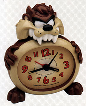 Taz bites the clock from Westclox