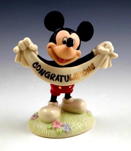 Mickey Mouse congrats figure Lenox