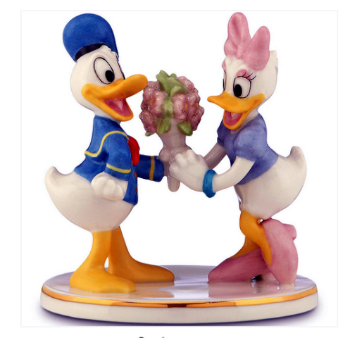 Donald has Flowers for Daisy - Lenox figurines fine china