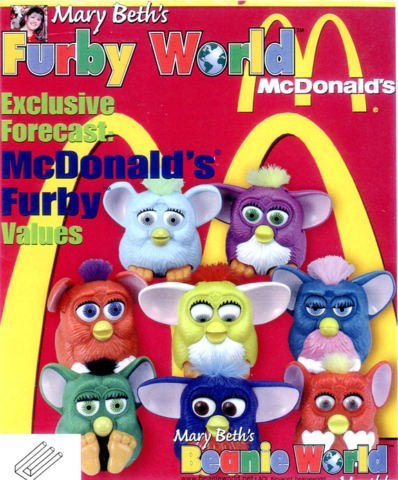 McDonalds Furbys on the cover of Furby World
