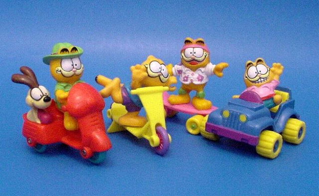 Garfield cats on vehicles