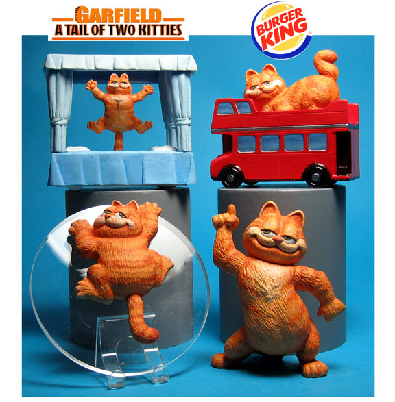 Garfield the Cat happy meals from Garfield a tail of two kitties Burger King