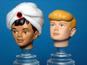 heads for Jonny Quest figures Galoob toys
