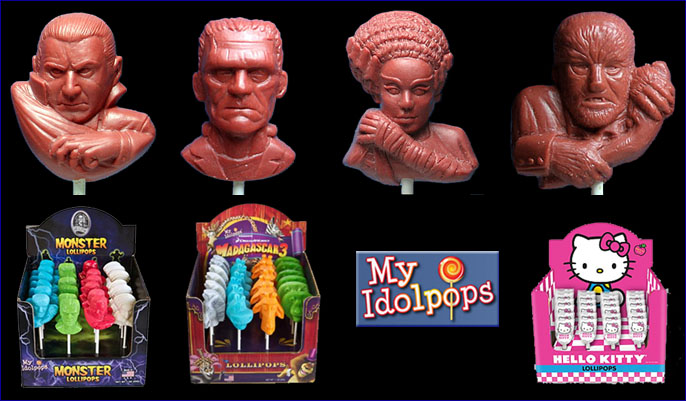Universal Monsters lolly pops for My Idolpops