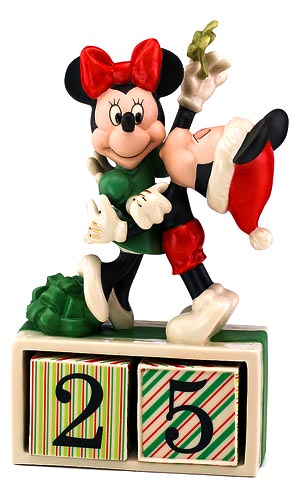 mistletoe Mickey love Minnie- Lenox fine china date counter