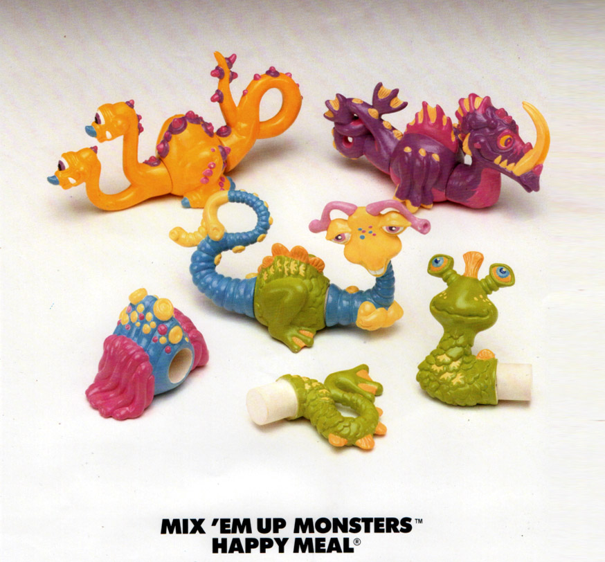 One of our first happy meal programs  - the Mix-em-up Monsters