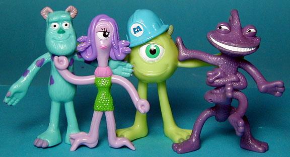 Monsters Inc. Bendies for Kelloggs