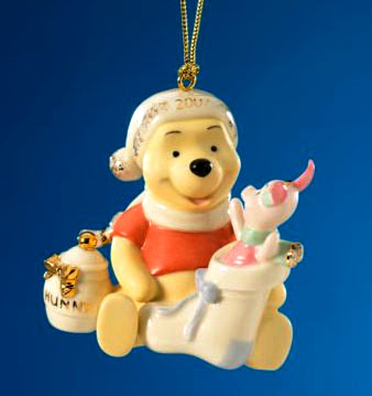 Winnie the Pooh for Lenox - fine china Christmas ornament