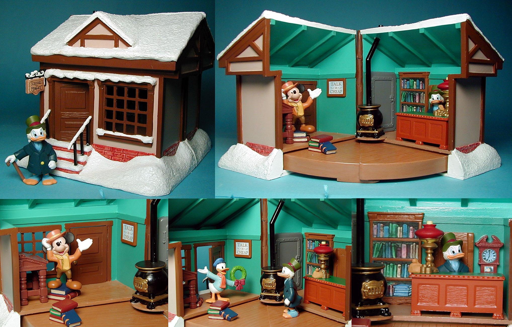 Disneys A Chrismas Carol Playset Scrooge McDuck, Kratchet and Donald