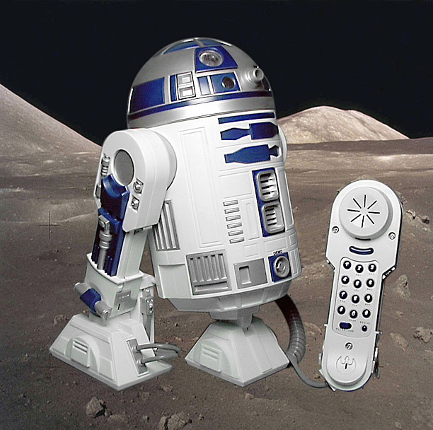 r2d2 phone - he lights up and turns his head and makes his sound