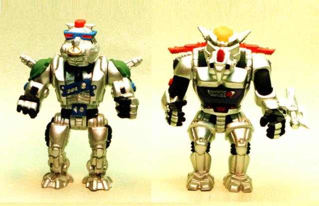 robo bad guys TMNT - chrome pig and rhino