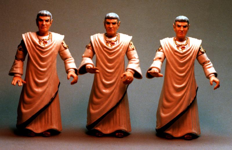 Sarek - Spock's Dad - painted samples Trek Playmates