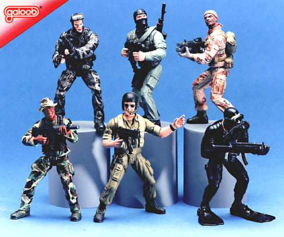 Galoob Toys Navy Seals figures, never released