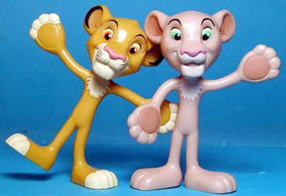 Kelloggs Lion King Bendies for in box toy premium