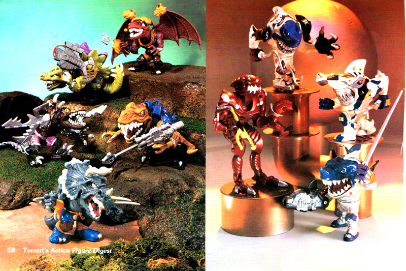 Really angry dinosaurs and really Spacy Sharks for Mattel