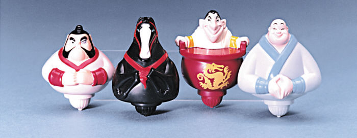 Mulan Happy meal toys spinners