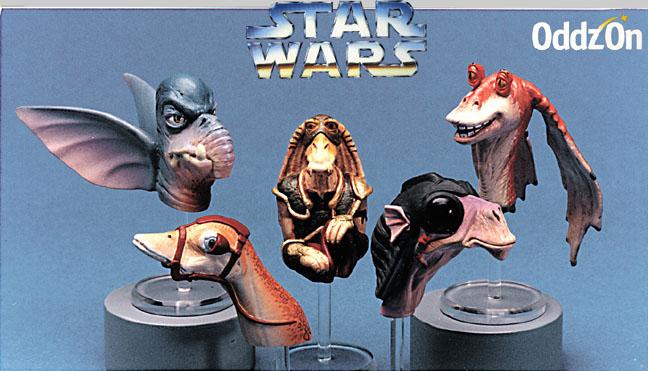 Oddzon Star Wars Koosh Ball heads, Koosh Balls not shown