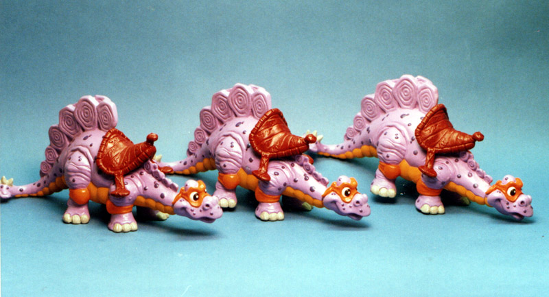 Three Dinos for the Cave Turtles - TMNT Playmates toys