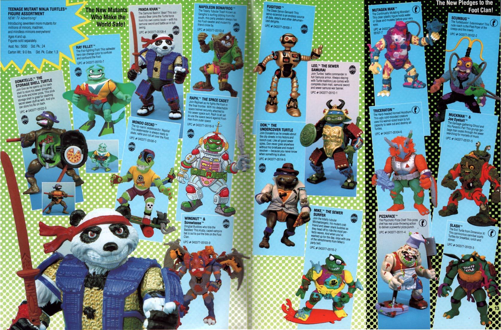 Playmates Toys Teenage Mutant Ninja Turtles 1990
