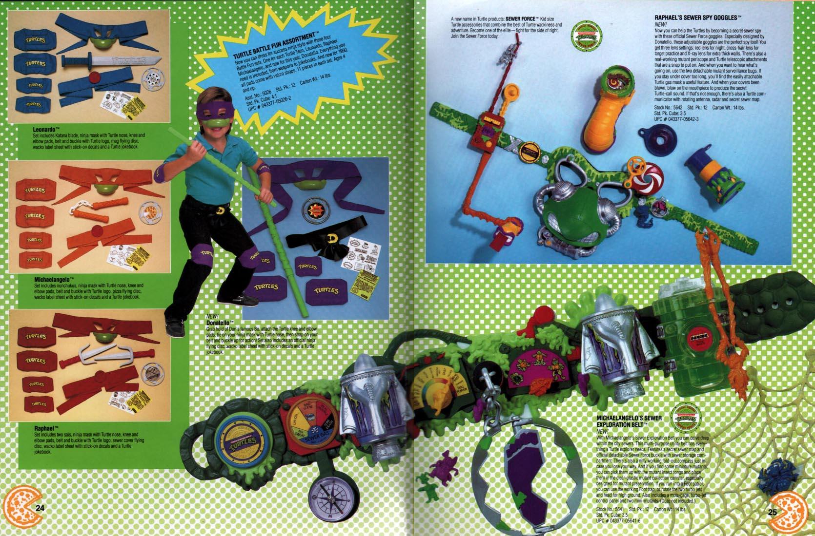 Playmates Toys Teenage Mutant Ninja Turtles role play 1990