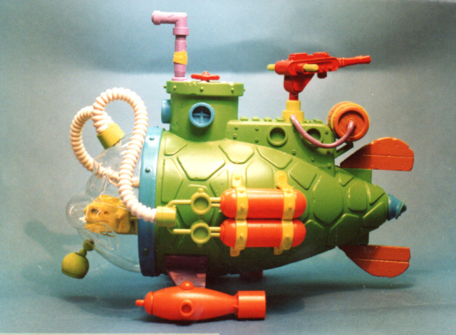 teenage mutant ninja turtle submarine playmates toys