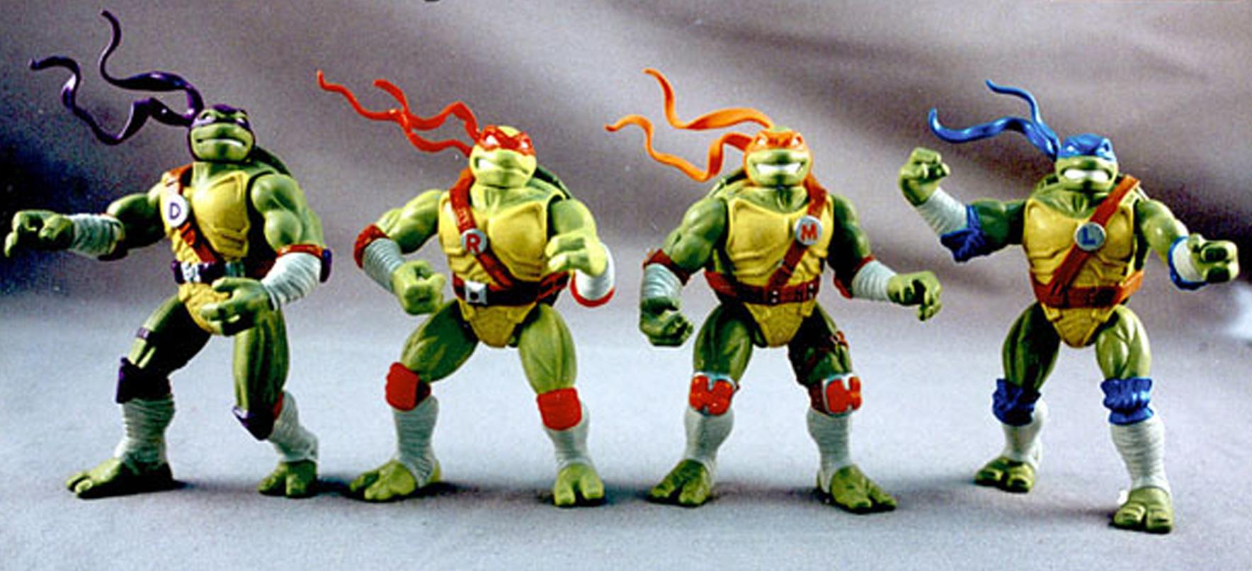 the Teenage Mutant Ninja Turtles - articulated figures for Playmates toys