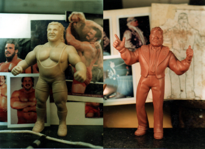 Wrestlers wax figures face AND body likeness