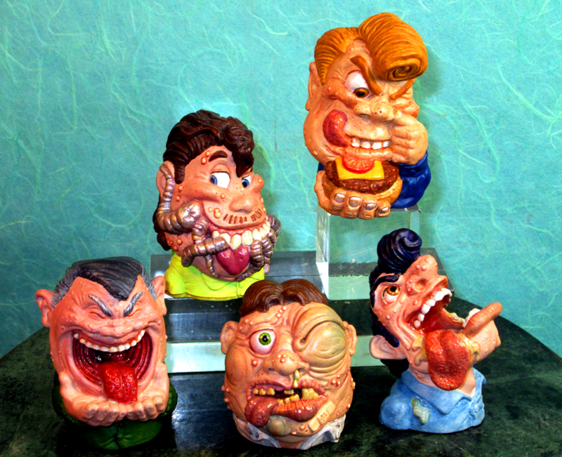 All 5 Yuck Heads for Galoob