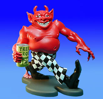 The Checkered Demon with Tree Frog Beer - never produced