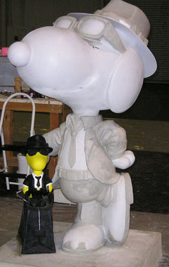 Blues Bros Woodstock and Snoopy in process