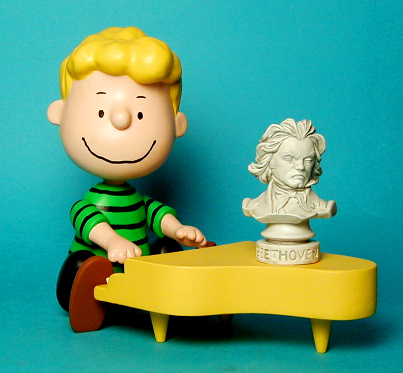 Schroeder with piano and Beethoven's Bust
