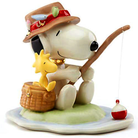 Snoopy & Woodstock go fishing Lenox fine china