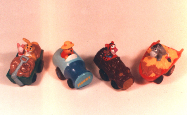 Winnie the Pooh diecast toys, happy meal proposal, never produced