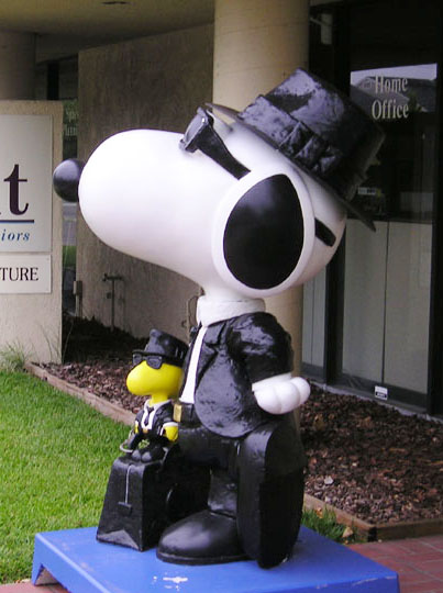 Blues Bros Woodstock and Snoopy installed