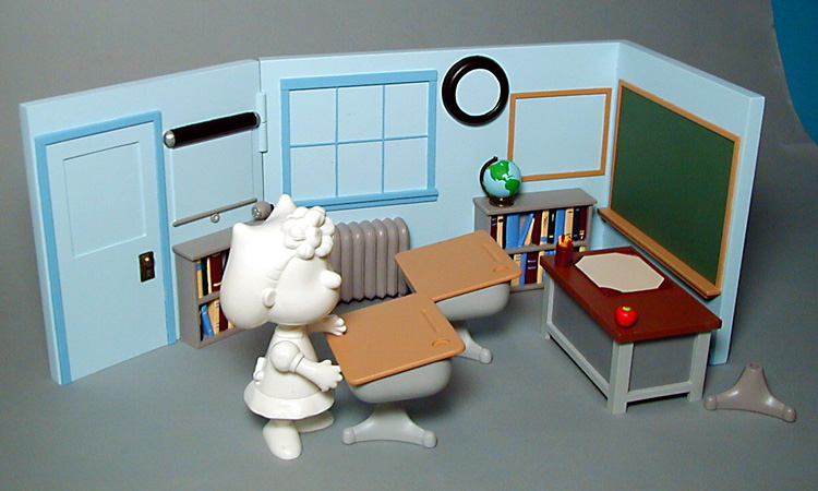 school room playset for Playing Mantis - unpainted